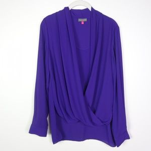 Vince Camuto Women's Chiffon Top Long Sleeve